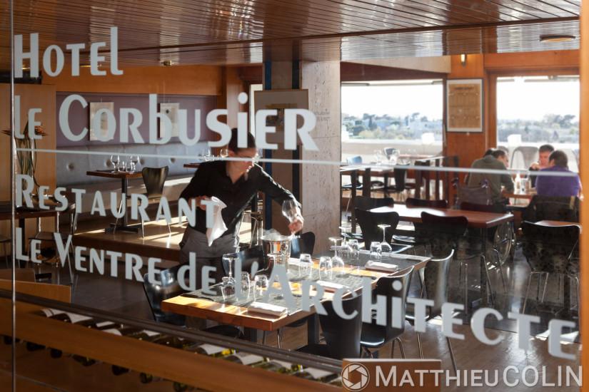 Cite radieuse de l'architecte Le Corbusier, appelee maison du Fada, hotel et restaurant le Ventre de l'Architecte
