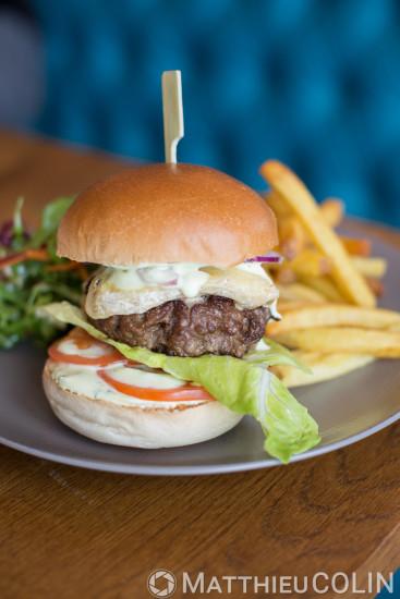 Restaurant le Quai du 7ème, chef des cuisines Laurent Skora, hamburger