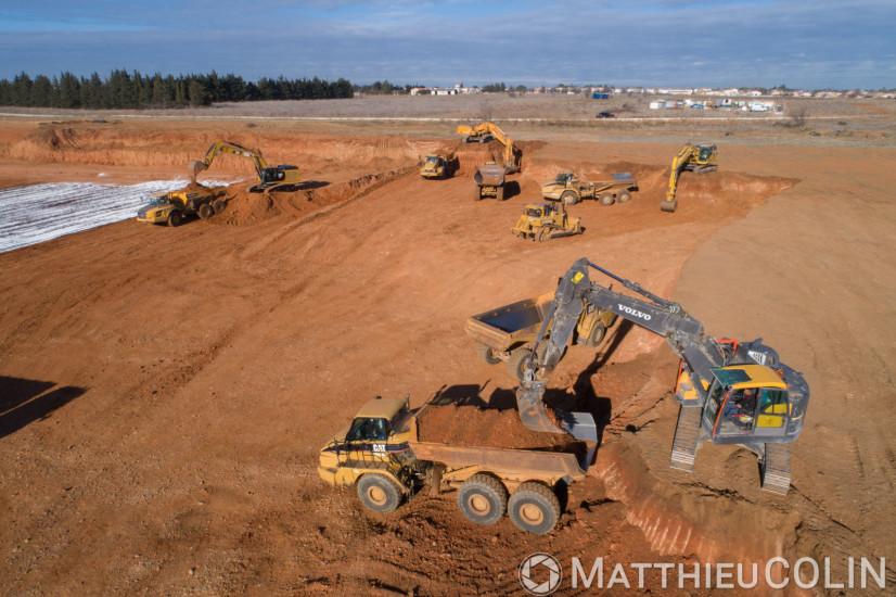 Suivi de chantier de terrassement (vue aérienne en drone)