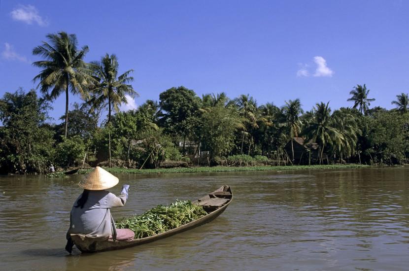 VIETNAM - De Saïgon à Phu Quoc - Le delta du Mékong. Mon premier est un labyrinthe de canaux à explorer en bateau. Mon deuxième est un lacis de pistes à découvrir à vélo ou à moto. Mon tout est le delta du Mékong. Votre mission : shopping au marché flottant, cueillette de fruits tropicaux et farniente sur les plages. Trop dur... (180 photos) Voir le reportage sur Divergence-Images