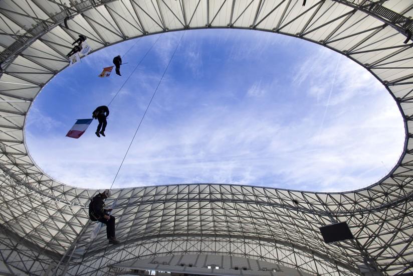 Le stade couvert de l'Olympique de Marseille. Voir le reportage sur Divergence-Images
