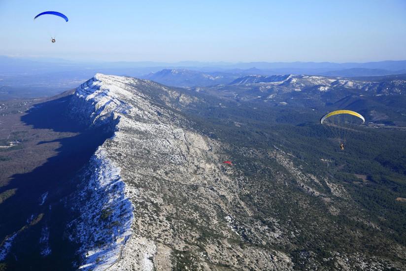 Vue aérienne de la Sainte Baume