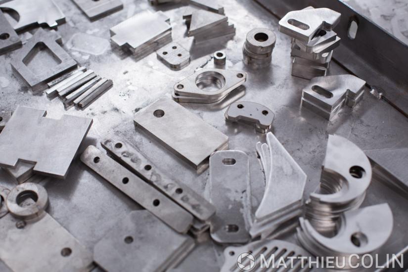 Process industriel de découpe laser, découpe plasma, pliage sur acier, inox et aluminium