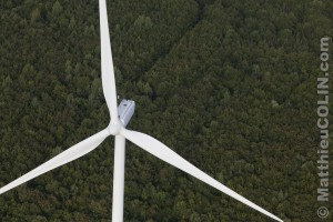 France, Meuse (55) parc éolien de Bonnet-Houdelaincourt. 18 éoliennes Vestas V90 de 125m de haut pour une puissance totale de 36 MW alimentent 33 000 personnes.