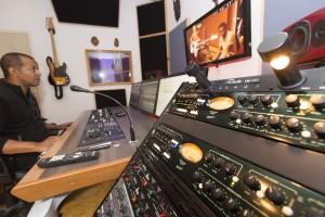 France, Bouches-du-Rhône, Marseille, studio d'enregistrement de musique