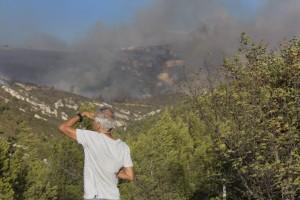 France, Bouches-du-Rhône (13), Marseille, incendie dans les calanques le 5 septembre 2016 au départ de Luminy entre Marseille et Cassis sur plus de 300 ha.