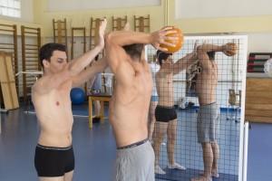 France, Bouches-du-Rhône (13), Marseille, Institut de Formation en Masso-Kinésithérapie de Marseille ou IFKM, salle de sport