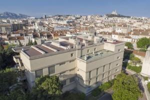 France, Bouches-du-Rhône (13), Marseille, Institut de Formation en Masso-Kinésithérapie de Marseille ou IFKM, vue aérienne en drone