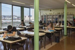 France, Bouches-du-Rhône (13), Marseille, Institut de Formation en Masso-Kinésithérapie de Marseille ou IFKM, bibliothèque