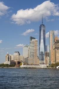 Etats-Unis, New York, Manhattan, la skyline du Financial District, One World Trade Center (1WTC)