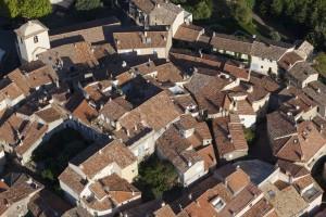 France, Var (83), golfe de Saint-Tropez, presqu'ile de Saint-Tropez, village de Ramatuelle (Vue aérienne)