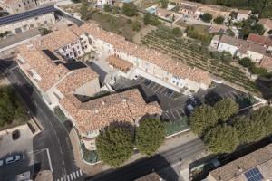 France, Var (83), Carnoules, Le clos des Vignes, Arcade, prise de vue par drone (vue aérienne)