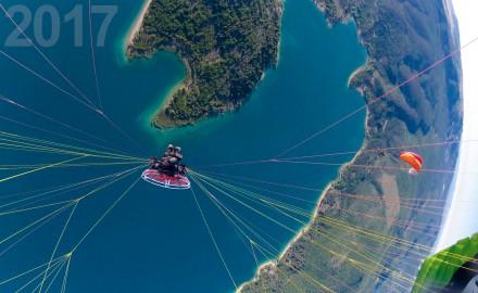 France, Var (83), parc naturel régional du Verdon, lac de Sainte Croix (vue aérienne)