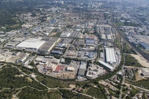France, Gard (30), Nîmes, zone industrielle de Nimes  (vue aérienne)