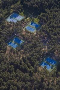 FFrance, Bouches-du-Rhône (13), Venelles, terrains de tennis, Association venelloise de tennis  (vue aérienne)