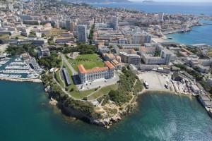 France, Bouches-du-Rhone (13),  Marseille, 7 eme arrondissment, Quartier d'Endoume, Palais du Pharo (vue aérienne)