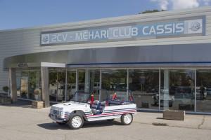 France, Bouches-du-Rhône (13), Cassis, 2CV - Mehari Club Cassis,  Méhari Eden, voiture 100 % electrique, conçue pour les 50 ans de la légendère Méhari