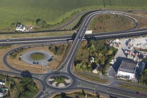 France, Maine-et-Loire (49), Angers, Avrilé, Aire de covoiturage du Fléchet, Parking (vue aérienne)
