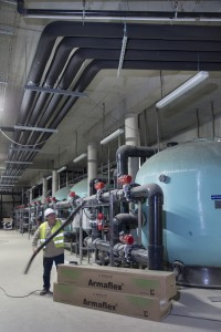 France, Pas-de-Calais (62), Boulogne-sur-Mer, chantier de Nausicaa, centre national de la mer, sur le plus grand aquarium d'Europe avec 9500 m3