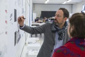 France, Bouches-du-Rhône, Marseille, Campus de Luminy, Université Aix-Marseille, école nationale supérieure d'architecture de Marseille, ENSA-Marseille ou ENSA-M. L'architecte Rémy Marciano.