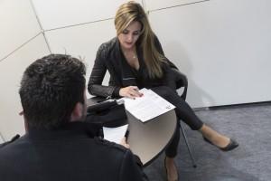 France, Bouches-du-Rhône, Marseille, Parc Chanot, palais des congrès et des expositions, salon forum de recrutement, Job Rencontres organisé par le magazine l'Express, entretien secteur assurance et banque