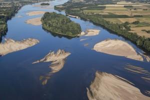 La Daguenière, île de Mézangeon (vue aérienne)