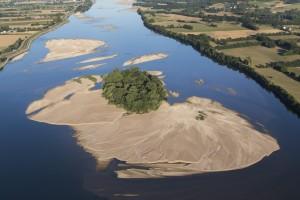 France, Maine-et-Loire (49), La Bohalle, île Sorin sur la Loire (vue aérienne)