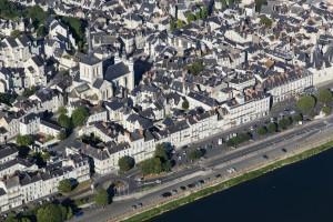 France, Maine-et-Loire (49), Saumur, château la Loire (vue aérienne)