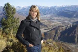 France, Alpes-de-Haute-Provence (04), Dignes-les-Bains, tournage de l'émission chroniques méditerranéennes avec la présentatrice Nathalie Simon