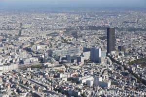 Vues aériennes de Paris et du sud de l'Ile--de-France