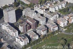 France, Val de Marne (94), Orly et Choisy - ZAC Navigateurs Aviateurs, Rue Christophe Colomb, Rue Marco Polo, Rue Jean Mermoz  (vue aérienne)