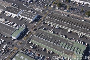 France, Val de Marne (94), Chevilly-Larue et Rungis, Marché d'intérêt National, le plus grand marché de produits frais au monde  (vue aérienne)
