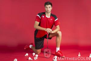 France, Bouches-du-Rhône (13), Fos-sur-Mer,   portrait de Toma Junior Popov,  joueur de Badminton, Yonex