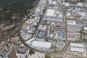France, Gard (30), Nîmes ouest, zone industrielle de Nîmes, Les Pondres (vue aérienne)