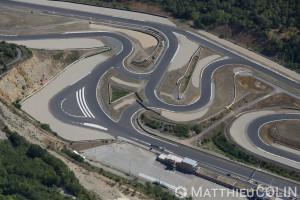France, Gard (30), Alès, Pôle Mécanique Alès Cévennes, Circuit automobile   (vue aérienne)