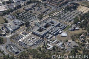 France, Gard (30), Alès, Centre Hospitalier Alès-Cévennes, hopital (vue aérienne)