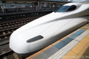 Japon, île de Honshu, région de Kansai, Kyoto,Shinkansen, train à grande vitesse du Japon
