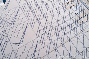 France, Bouches-du-Rhône (13),  Martigues, centrale Thermique EDF de Martigues, poste électrique, aiguilles, distribution d'électricité, départ de ligne à haute tension  (vue aérienne)