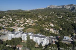 France, Bouches-du-Rhône (13), Roquevaire, Résidence Coté Collines, 1001 Vies Habitat, Logis Méditerranée ( (vue aérienne)