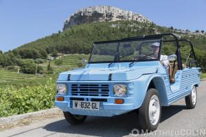 France, Bouches-du-Rhône (13), Cassis, Eden Cassis, Mehari Club Cassis, voiture 100% électrique